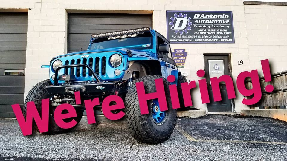 we are hiring auto mechanics in West Chester, PA
